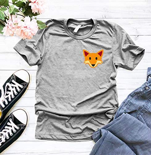 e5175d69 Fox T Shirt, Cute Fox T-Shirt, Funny Graphic T Shirt, Pocket