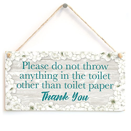 Please do not throw anything in the toilet other than toilet paper Thank You - Septic Tank Notice Small Toilet Plaque For W.C - Sign Tank