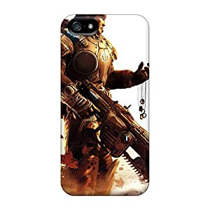 Bumper Cell-phone Hard Covers For Iphone 5/5s With Unique Design High Resolution Gears Of War Skin CassidyMunro