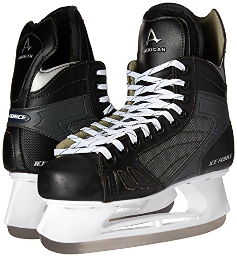 American Athletic Shoe Men's Ice Force Hockey Skates, Black, 9