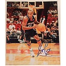 Speedy Claxton Atlanta Hawks Wariors Hofstra NBA Autograph 8x10 Photo Signed 16B