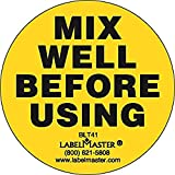 Labelmaster BLT41 Mix Well Before Using Label