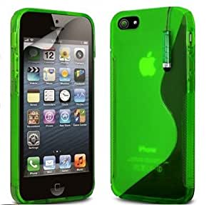 Viesrod Shelfone Stylish S-LINE Wave Grip Series Silicone GEL Case Cover For Apple iPhone 5 5G + Includes Stylus Pen +...
