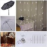 areskey Umbrella String Lights,104 LEDs White
