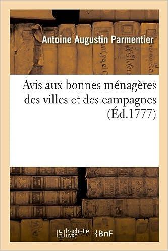 Téléchargement Avis aux bonnes ménagères des villes et des campagnes (Éd.1777) pdf