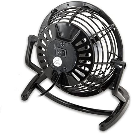 Syba SY-ACC65055 High Velocity Mini USB Fan 5oz Lightweight Design 360 Degree Up Down Angle Adjustment