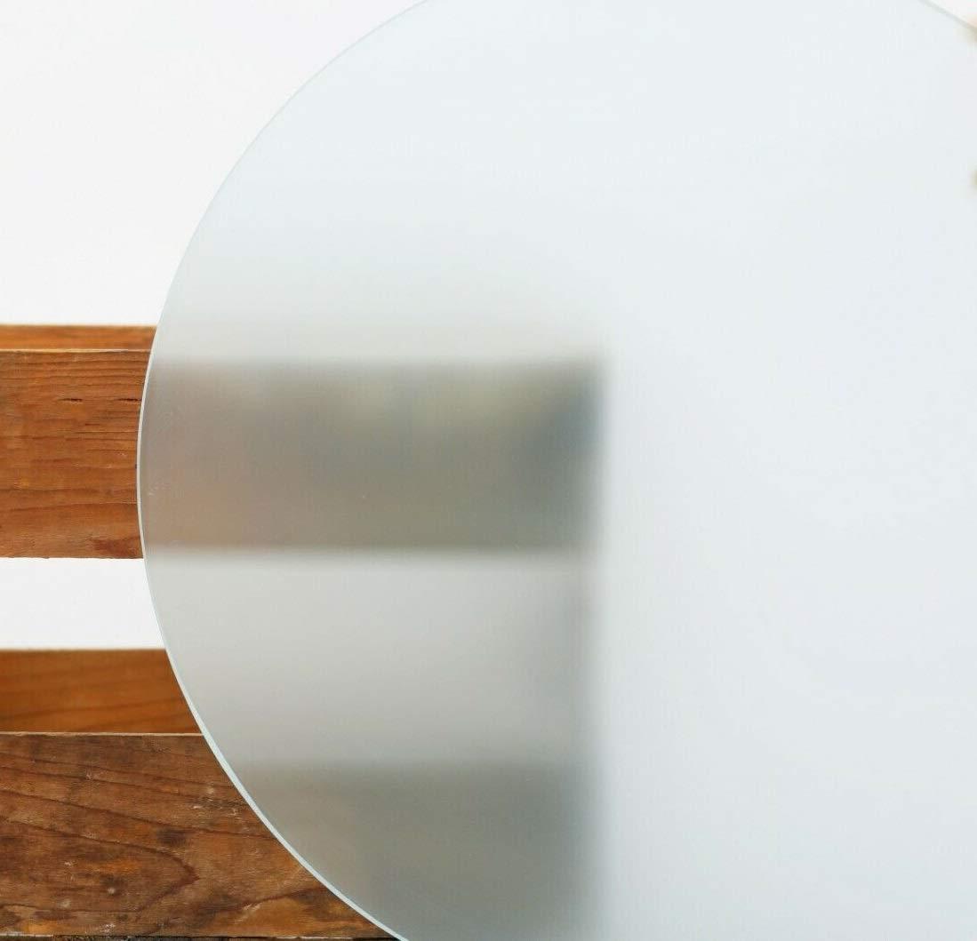Glasscheibe Rund Kreis 8mm Satiniertes Glas Runde Glasplatte Glasscheibe 45 cm /Ø