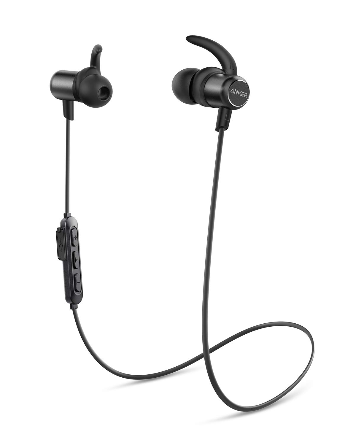 8dd425f5741 Anker Wireless Headphones, Upgraded SoundBuds Slim Workout Headphones  Magnetic In-Ear Earbuds, Bluetooth 5.0, 10-Hour Playtime, IPX7 Waterproof  for Workouts ...