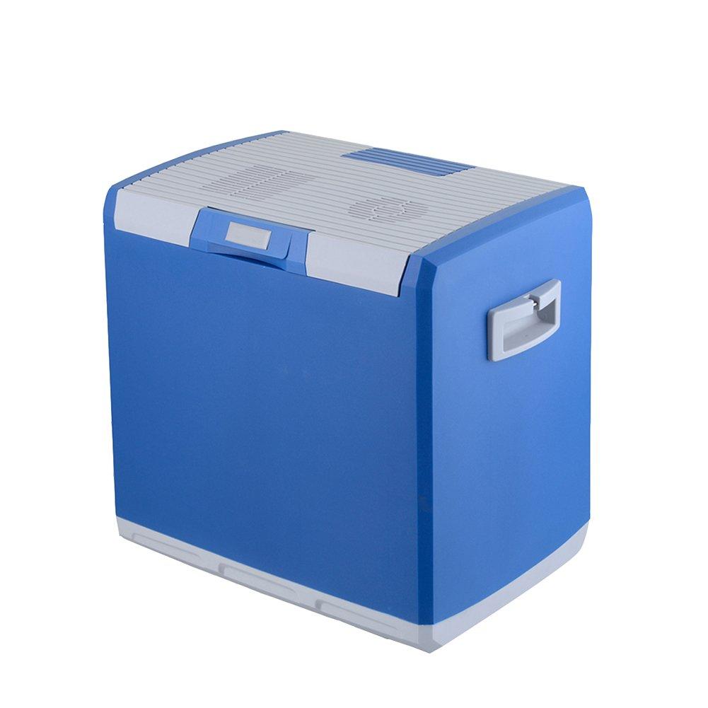 LIQICAI 30L Mini Kühlschrank Camping Party Lunchbox 12V DC (Auto)/24V DC (LKW)/230V AC (Zuhause), Tragbarer Tragegurt (Farbe : Blau, größe : for Car+Home)