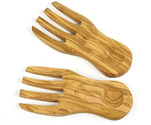 Olive Wood Salad Servers - Berard Olive-Wood Handcrafted Curved Salad Servers
