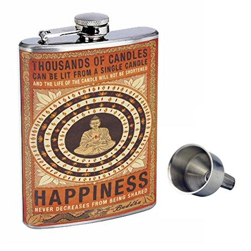 新品即決 Perfection Inスタイル8オンスステンレススチールWhiskey Flask with Free Funnel d-009 thousands of Candlesポスターアート   B017GKWNTM, 後月郡 35a325a6