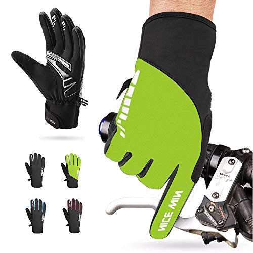Winter Cycling Gloves Motorcycle Bike - Windproof Waterproof Mountain Road Bicycle Glove Men Women Padded Antiskid Touch Screen Design