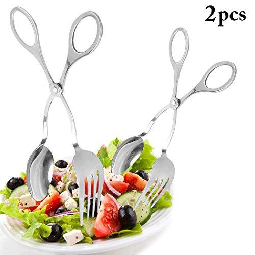 Salad Tongs, Justdolife 2 PCS 9.5
