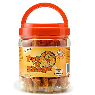 Pet 'n Shape Chik 'n Skewers Natural Dog Treats, 8-Ounce