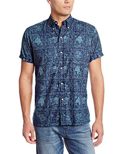 Reyn Spooner Men's Lahaina Sailor Shirt, Royal, - Lahaina Stores In