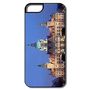 IPhone 5 5S Protector, New City Hall Hanover Cases For IPhone 5 5S - White/black Hard Plastic