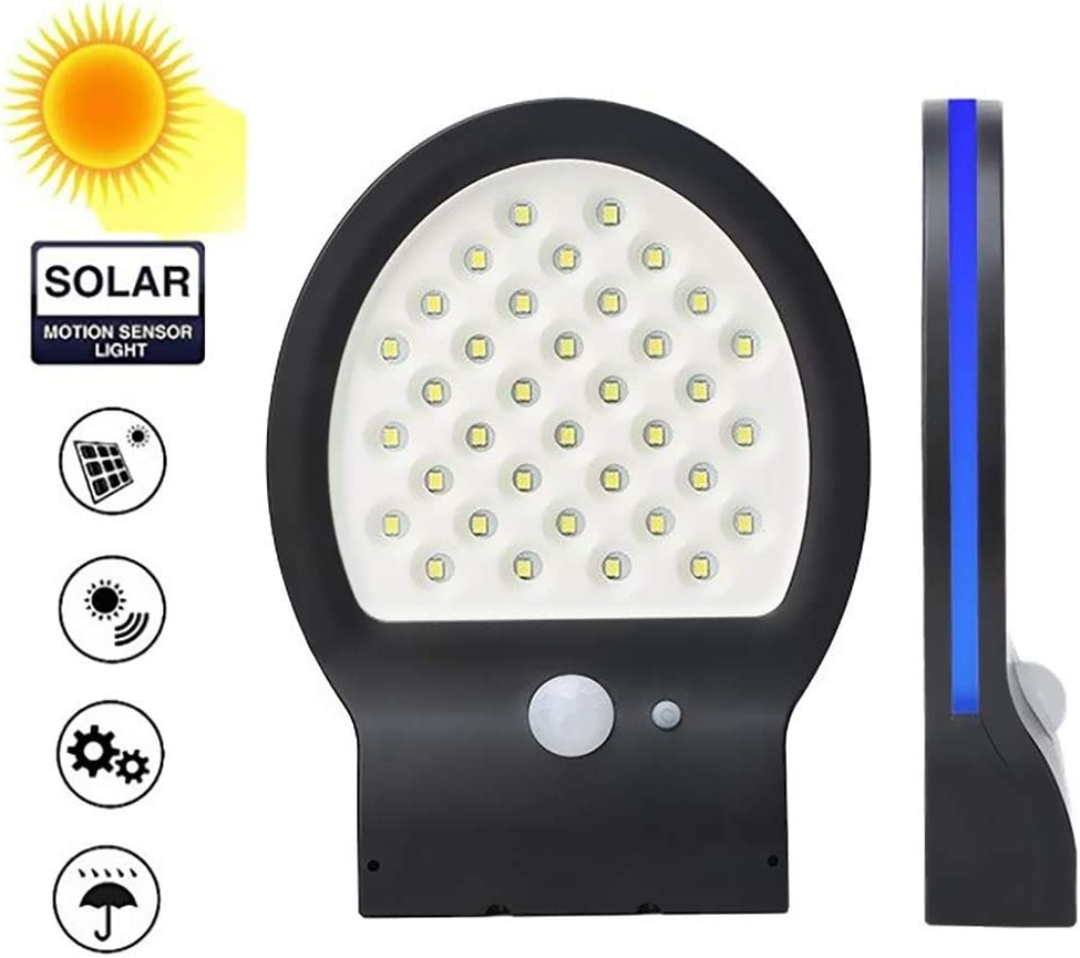 Wall Solar Lights Outdoor,Wireless 36 LED Solar Motion Sensor Lights,120° Wide Angle, 3 Optional Modes, IP54 Waterproof Security Lighting Night Light for Front Door,Garden,Yard,Garage …
