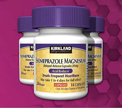 Kirkland Signature Magnesium Acid Reducer (Compare to Nexium) 24 Hour Delayed-Release Capsules 20mg, 42 Count
