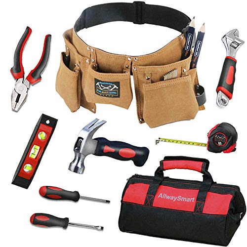 Kids Real Tool Set for Childrens Real Tool Set Red Kids Tool Bag with Real Tools for Kids 7 and Up Woodworking Kid's Tool Kit Children Tool Set Real for Age 6 to 12 Junior Child Tool Set