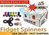 AK-Trading - LOT OF 50 - Tri Spinner Fidget Gadget Hand EDC Triangle Toy Wholesale Assorted Colors (BULK LOT OF 50)- Ships FAST & FREE from USA!