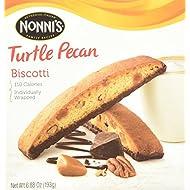 NONNI'S Biscotti Turtle Pecan 6.88 Oz. Box of 8 Individually Wrapped Biscotti (2 Pack)