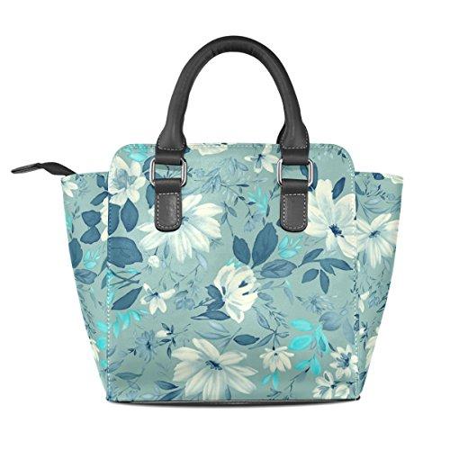 Women's Shoulder TIZORAX Vintage Floral Bags Leather Tote Handbags TIZORAX Vintage f0x0qwIS