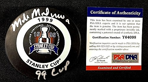 Autographed Signed Mike Modano 1999 Stanley Cup Game Puck Dallas Stars - PSA/DNA Authenticated - Signed Hockey Pucks - NHL Gifts