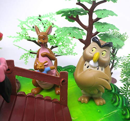 Winnie the Pooh Deluxe Cake Topper Set Featuring Pooh Bear and Friends Figures and Decorative Themed Accessories by Cake Topper (Image #6)