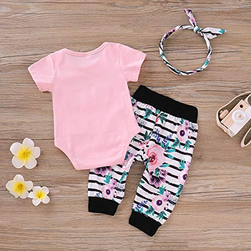 091968bef3d81 Newborn Baby Girl Clothes Little Sister Outfit Bodysuit Tops + Floral  Legging Pants Set Bowknot Headband