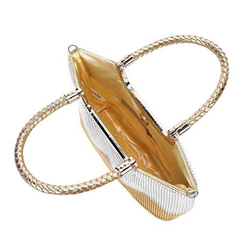 Designer 2 Womens Satin Mufly Handy Bridal Bag Evening Bags Beautiful Handbag Wallet amp; G Crystal Wedding Clutch Sparkly Bag W 6HwHdfq