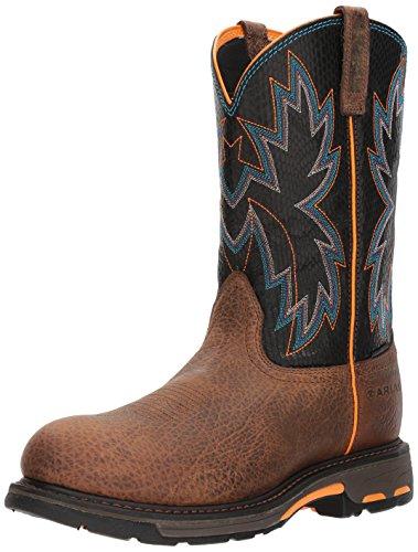 Ariat Work Men's Workhog Raptor Composite Toe Construction Boot, Earth/Black Snake Print, 7.5 D US