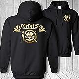Rigger Skull Crossbones Crane Rigging Spud Wrench Sweatshirt Hoodie