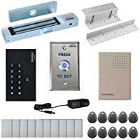 Visionis FPC-5323 One Door Access Control Inswinging Door 300lbs Maglock with VIS-3002 Outdoor Indoor Use Only Keypad / Reader Standalone no software EM Card Compatible 500 Users Kit