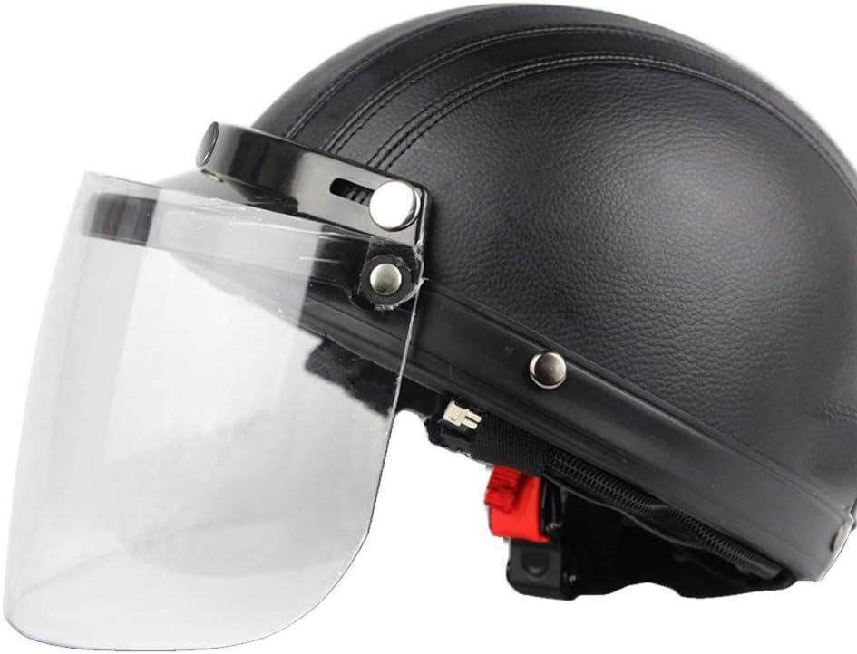 Universal 3 Snap Flip Up Visor Shield Lens for Retro Open Face Motorcycle Helmet