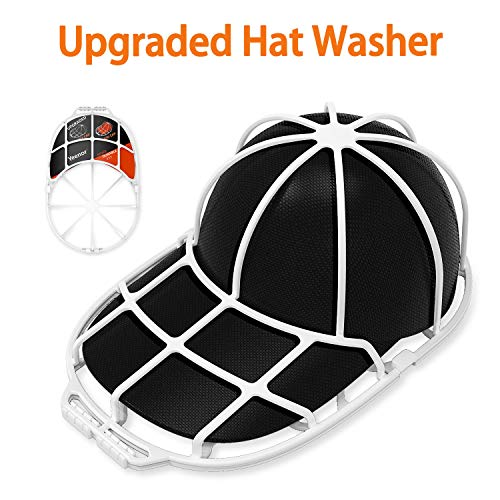 YEENOR 2-Pack Cap Washer,Hat Washer,Baseball Hat Cleaner/Cleaning Protector,Ball Cap Washing Frame Cage Hat Washing Holder,Ball Cap Sport Hat Visors Shaper/Organizer for Washing Machine