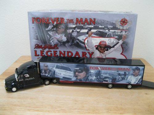 2002 Action Racing Collectables Dale Earnhardt #3 Forever The Man Legendary Hauler Trailer Transporter Rig Semi Truck Metal Cab Metal Hauler 1/64 Scale ()