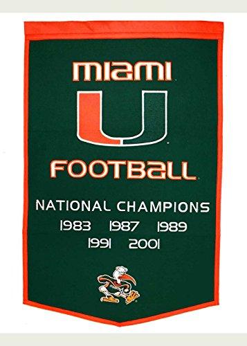 Miami Hurricanes NCAA Dynasty Banner (24x36)