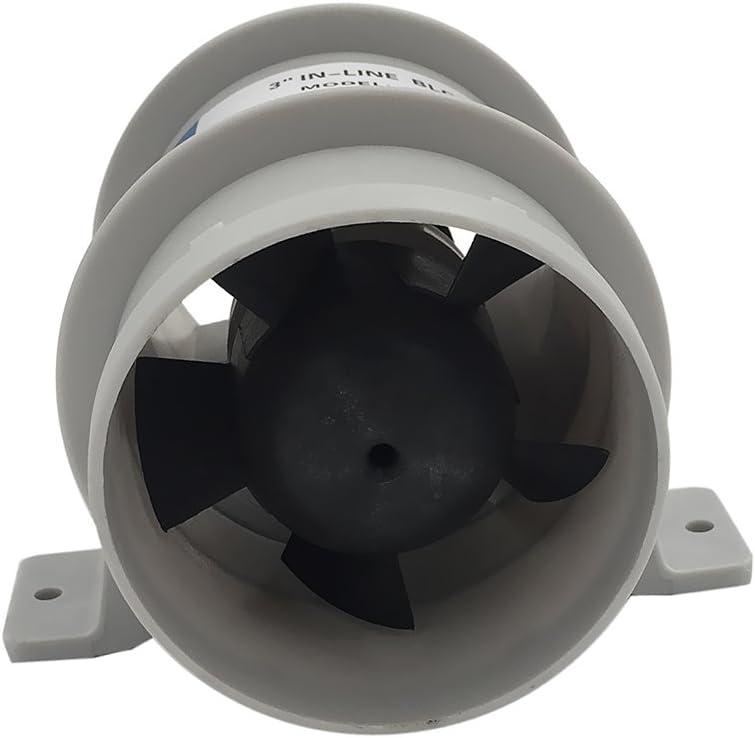 Ventilador Marino de 12v Resistente al Agua Flujo de Aire Alto - 3 Pulgadas de diámetro: Amazon.es: Deportes y aire libre