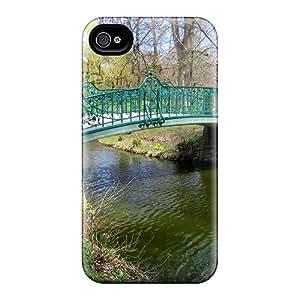 Excellent Design Stream Bridge Phone Case For Iphone 4/4s Premium Tpu Case