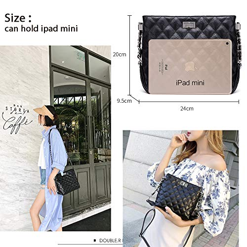 NP2119S Leather Chain Purse for Bag Zipper Neverout Black Quilted Handbags Women Shoulder Split P0UqHq6w