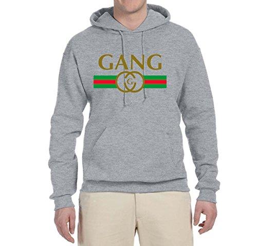 Wild Bobby Gang Logo Parody | Mens Fashion Hooded Sweatshirt Graphic Hoodie, Heather Grey, Medium (Clothing Retro Designer)