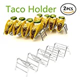 Taco Holder, Taco Stand, Taco Rack, Stainless Steel Taco Holders Hold Soft Shell Tacos Wave Shape Kitchen Tool Restaurant Food Show, Set of 2