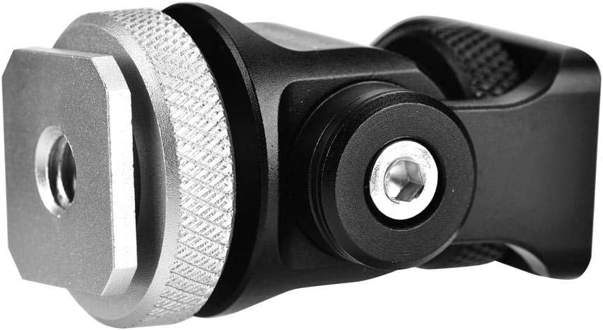 Bracon Hot Shoe Mount Hot Shoe Mount Monitor Flash Microphone Holder 1//4 Screw Camera Accessory