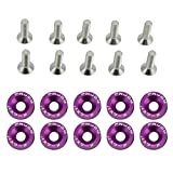 ZHUOTOP 10Pcs/Set Car Fender Washers Bumper Washer Lisence Plate Bolts Kits for JDM Style CIVIC ACCORD 174-10-00165