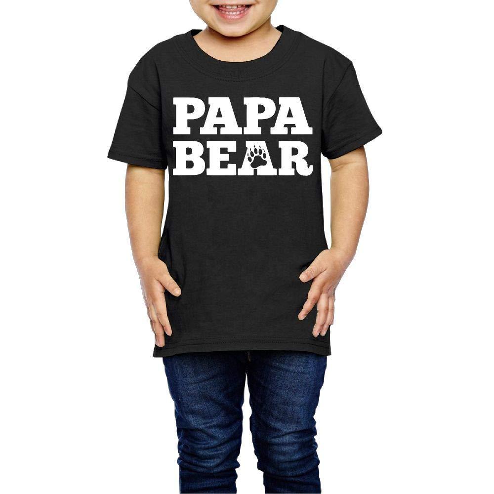 Papa Bear Fashion Infant Crewneck Short Sleeve Shirt Tee 2 6 S