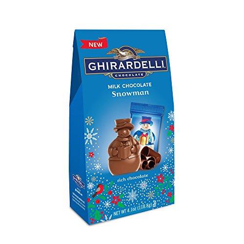 Ghirardelli Milk Chocolate Snowman Medium Bag, 4.1 Ounce (Pack of 12)