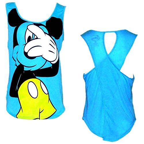 Disneys Teen/Junior Fashion Tank Top Mickey Mouse Peek