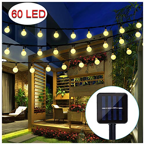 BAOANT Solar String Lights 36Ft 60 LED Crystal Ball Waterproof String Lights Solar Powered Fairy Lighting for Garden Home Patio Landscape Holiday Decorations(Warm White) from BAOANT