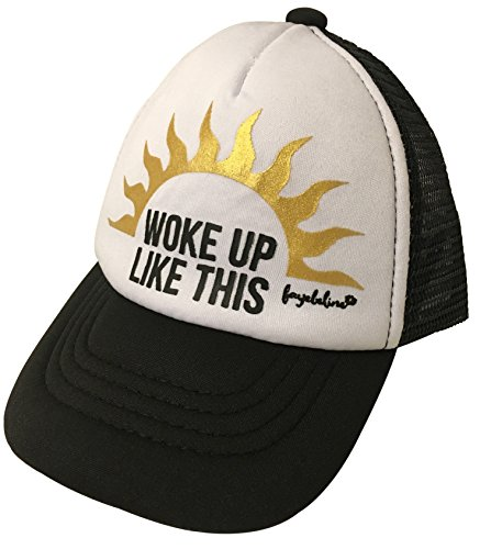 Fayebeline Baby Trucker Hat Boutique Quality Woke Up Like This Black 0-6 Months