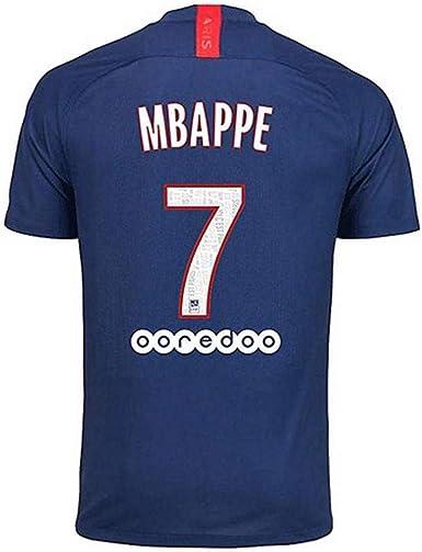 PSG Paris St Germain 2018-2019 Season Home #7 MBAPPE Soccer Jersey Mens Color Blue